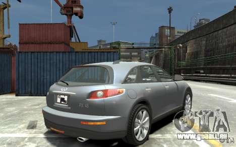 Infiniti FX45 für GTA 4 rechte Ansicht