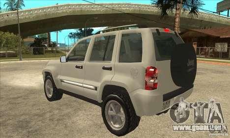 Jeep Liberty 2007 Final für GTA San Andreas zurück linke Ansicht