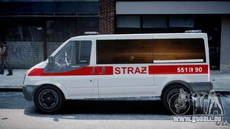 Ford Transit Polish Firetruck [ELS] pour GTA 4 est une gauche