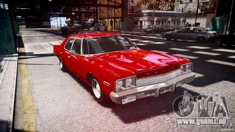 Dodge Monaco 1974 stok rims pour GTA 4 Vue arrière