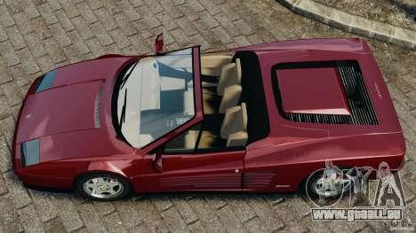 Ferrari Testarossa Spider custom v1.0 pour GTA 4 est un droit