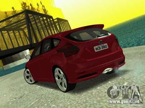 Ford Focus ST 2013 pour GTA San Andreas laissé vue
