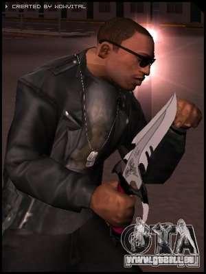 Dragon Lord knife pour GTA San Andreas deuxième écran