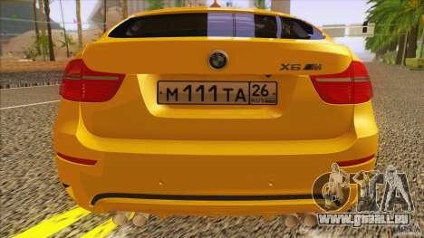 BMW X6M E71 v2 für GTA San Andreas Rückansicht