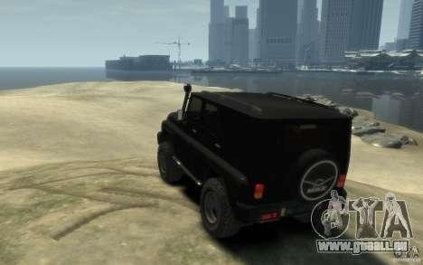 UAZ Hunter final pour GTA 4 Vue arrière de la gauche