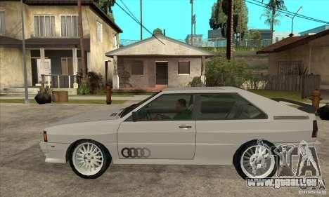 Audi Quattro pour GTA San Andreas laissé vue