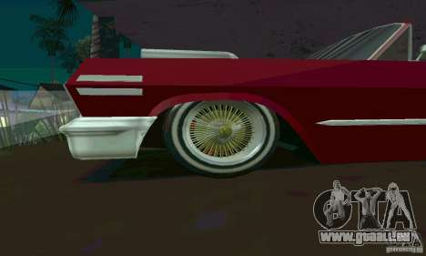 Chevrolet Impala 1963 Lowrider Charged für GTA San Andreas linke Ansicht