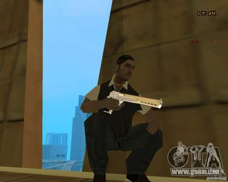 Chrome Desert Eagle für GTA San Andreas