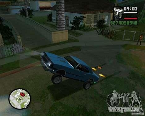 Être capable de soulever la voiture pour votre a pour GTA San Andreas cinquième écran