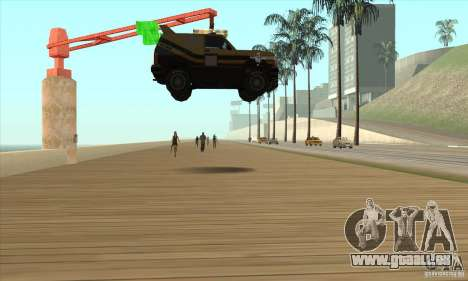 Machine de voiture-mort de mort pour GTA San Andreas troisième écran