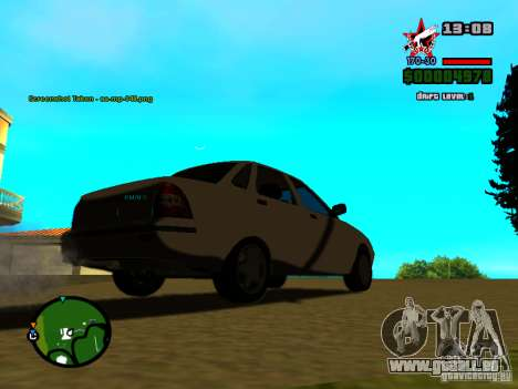 Lada Priora für GTA San Andreas Unteransicht