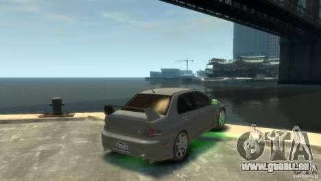 Mitsubishi Lancer EVOLUTION VIII pour GTA 4 est une gauche