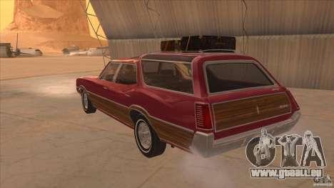 Oldsmobile Vista Cruiser 1972 pour GTA San Andreas sur la vue arrière gauche
