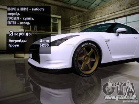 NFS SHIFT WHEELS MOD für GTA San Andreas her Screenshot