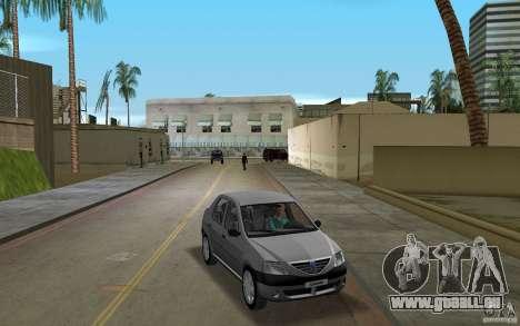 Dacia Logan 1.6 MPI pour GTA Vice City vue arrière