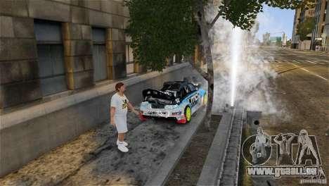 Subaru Impreza WRX STI Rallycross KMC Wheels pour GTA 4 est une vue de dessous