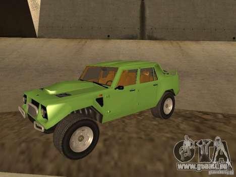Lamborghini LM-002 v2 für GTA San Andreas Innenansicht