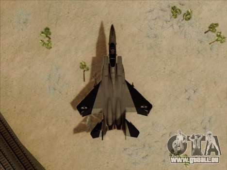 F-15C für GTA San Andreas Innenansicht