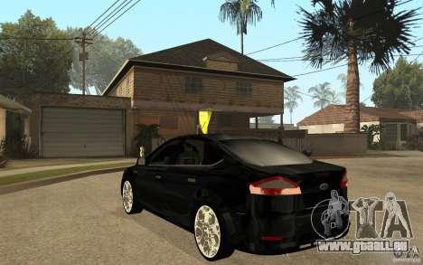 Ford Mondeo 2009 pour GTA San Andreas sur la vue arrière gauche