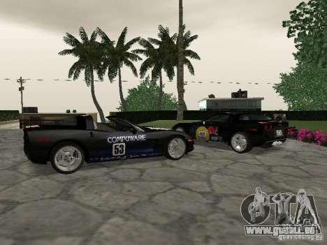 Chevrolet Corvette (C6) pour GTA San Andreas vue intérieure