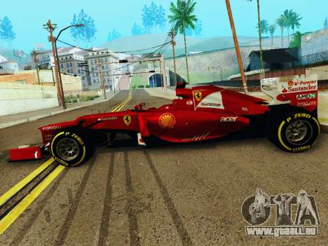 Ferrari F2012 für GTA San Andreas linke Ansicht
