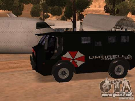 AM 7.0 Umbrella Corporation für GTA San Andreas linke Ansicht