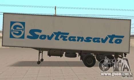 Sovtransavto remorque pour GTA San Andreas sur la vue arrière gauche