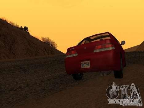 Honda Prelude Sport pour GTA San Andreas sur la vue arrière gauche