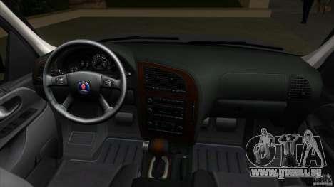 SAAB 9-7X pour GTA Vice City vue arrière