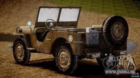 Jeep Willys [Final] pour GTA 4 est un droit
