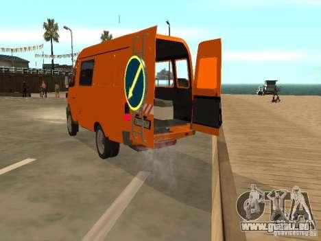 Gazelle 2705 Highway patrol für GTA San Andreas rechten Ansicht