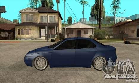 Alfa Romeo 156 Light Tune pour GTA San Andreas laissé vue
