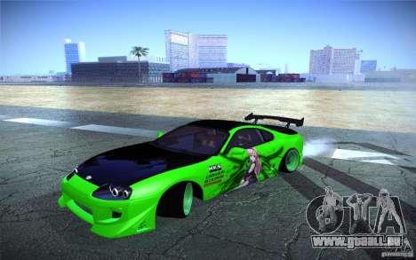Toyota Supra Tuned pour GTA San Andreas vue de droite