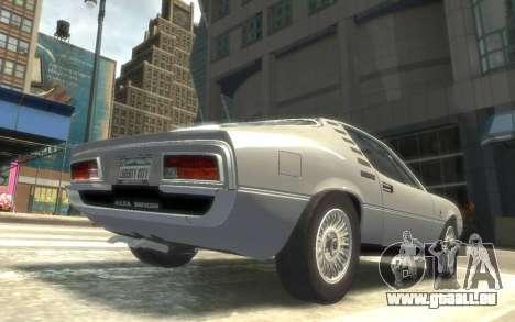 Alfa Romeo Montreal 1970 pour GTA 4 Vue arrière de la gauche