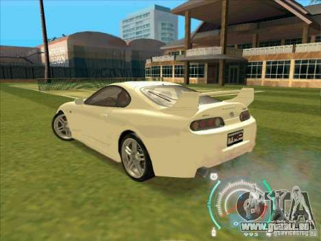 Toyota Supra from 2 Fast 2 Furious pour GTA San Andreas vue de droite
