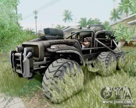 Cheta patte des Borderlands pour GTA San Andreas vue arrière