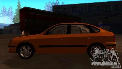 Hyundai Elantra pour GTA San Andreas laissé vue
