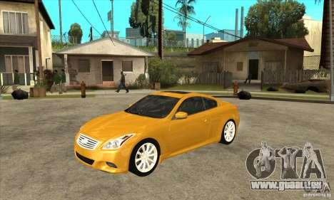 Infiniti G37 Coupe Sport für GTA San Andreas
