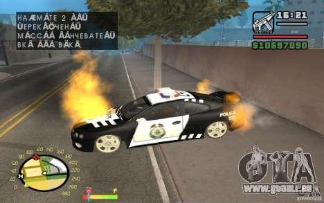 Brennenden Auto in GTA 4 für GTA San Andreas zweiten Screenshot