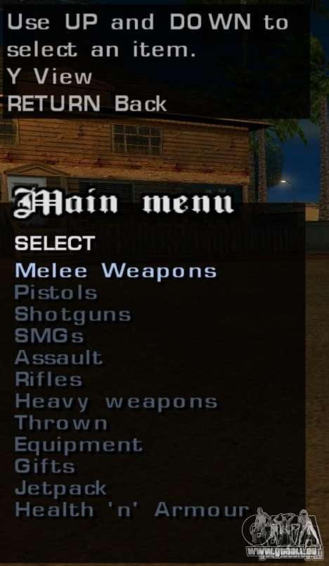 Toutes les armes pour GTA San Andreas