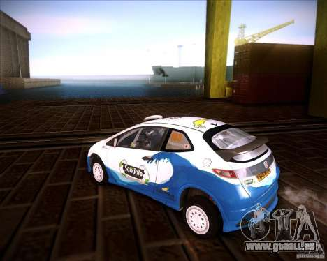 Honda Civic Type-R (Rally team) pour GTA San Andreas laissé vue