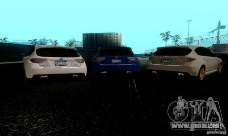 2008 Subaru Impreza Tuneable pour GTA San Andreas sur la vue arrière gauche