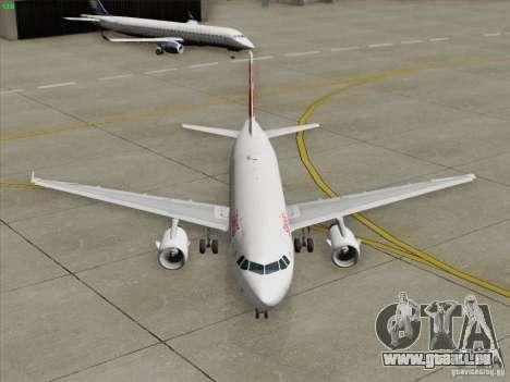 Airbus A319-112 Swiss International Air Lines pour GTA San Andreas vue de dessous