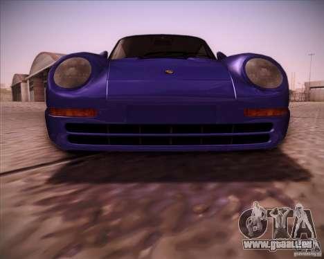 Porsche 959 1987 für GTA San Andreas Innenansicht