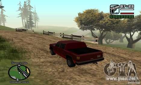 Rancher 4 Doors Pick-Up pour GTA San Andreas sur la vue arrière gauche