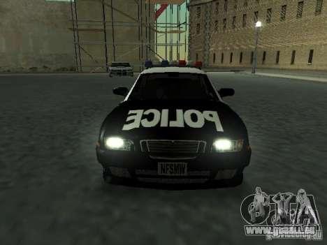 Police Civic Cruiser NFS MW für GTA San Andreas Rückansicht