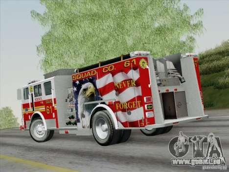 Seagrave Marauder. F.D.N.Y. Squad 61. pour GTA San Andreas laissé vue