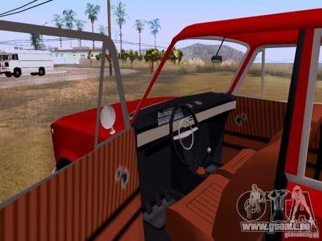 VAZ 2102 für GTA San Andreas Innenansicht
