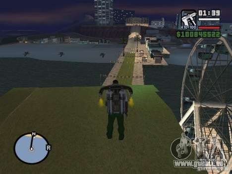 Night moto track V.2 pour GTA San Andreas cinquième écran