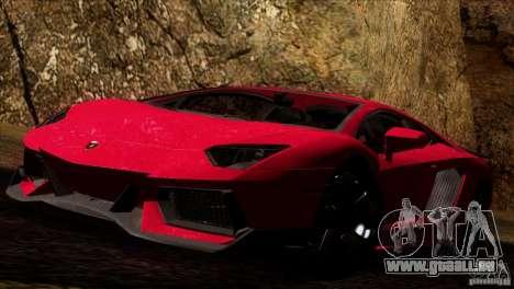 Lamborghini Aventador LP-700 J pour GTA San Andreas sur la vue arrière gauche